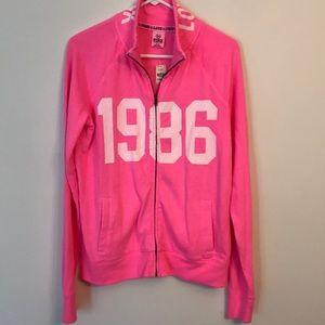 Pink zip front jacket